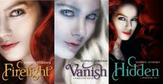 Firelight trilogy by Sophie Jordan. Firelight. Vanish. Hidden.