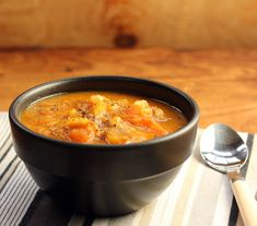 Recipe for Gluten Free, Vegan Pumpkin and Potato Soup with Carrots and Curry Spices - The Perfect Pantry®