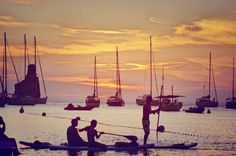 Padel Surf , Sunset, Ibiza , Benirrás