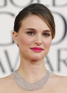 Natalie Portman's Fuchsia Lip: http://www.stylemepretty.com/2015/11/04/celebrity-hair-makeup-looks-to-steal-for-your-wedding/