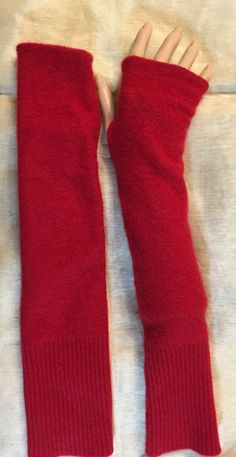 A personal favorite from my Etsy shop https://www.etsy.com/listing/267125211/c72-red-cashmere-arm-warmer-fingerless