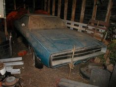 The 1971 Challenger R/T Talan found in the pole barn