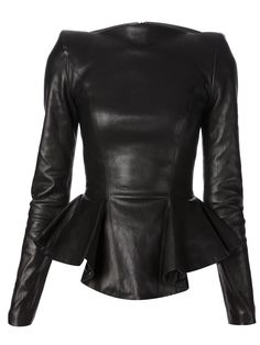 leather peplum top - plein sud