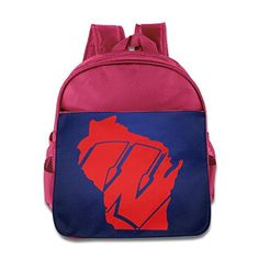 Map Of Wisconsin State School Kids Backpack Boys Girls Bags Pink - Brought to you by Avarsha.com
