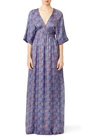 Floral Corinne Caftan Maxi by Tory Burch
