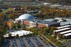 Liberty University and the nearby Blue Ridge ...