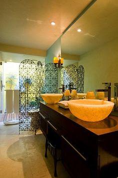 Tropical Bathroom ~ Mexican Riviera