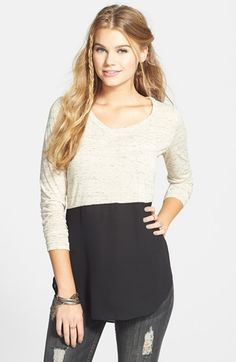 Lush Colorblock Long Sleeve Tee (Juniors) available at #Nordstrom