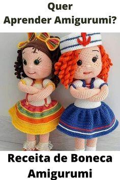 Crochet Amigurumi Free Patterns, Crochet Doll Pattern, Crochet Simple, Cute Crochet, Crochet Eyes, Knitted Animals, Amigurumi Doll, Single Crochet, Handmade Home