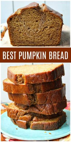 This is the Best Pumpkin Bread recipe ever It& incredibly moist and full of delicious spices too Photographs and howto video included - eye-makeup Loaf Recipes, Baking Recipes, Cake Recipes, Dessert Recipes, Recipes Dinner, Best Pumpkin Bread Recipe Ever, Pumpkin Recipes, Pumpkin Dessert, Pumpkin Pumpkin