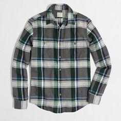 J.Crew Factory - Factory slim flannel workshirt