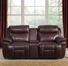 Sanford Leather Reclining Loveseat