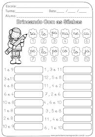 A Arte de Ensinar e Aprender / Fundamental: Atividdade Pronta - Brincando com as Sílabas Spanish Lessons For Kids, Learn Portuguese, Kids English, Kindergarten Math Worksheets, Activities For Kids, Classroom, Teaching, Education, Portuguese Language
