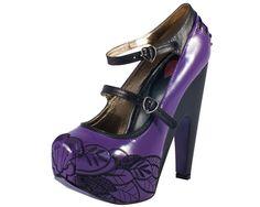 Purple Patent Leather Olivia Heel