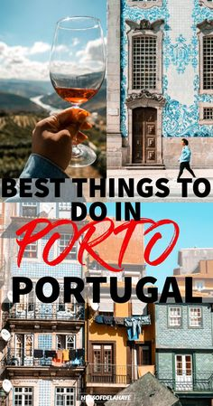 Things to do in Porto Portugal - this detailed Porto itinerary, gives you the best things to do in Porto, from exploring the iconic Ribeira, where to find the beautiful azulejo tiled to visiting the famous Livraria Lello bookshop. This Porto weekend guide Porto Portugal, Visit Portugal, Spain And Portugal, Portugal Travel Guide, Europe Travel Guide, Travel Guides, Travel Destinations, Algarve, European Destination