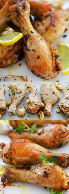 Italian Roasted Chicken – roasted chicken drumsticks marinated with Italian herbs and seasonings. Crispy, delicious and so easy to make | rasamalaysia.com