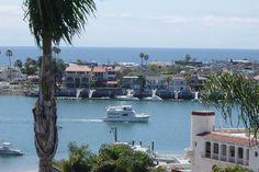 Corona del Mar harbor. I like this beach town better than Newport Beach.