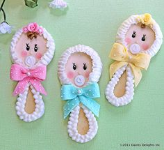 Baby Rattle Cookies - Featured:  CATCH MY PARTY. $54.00, via Etsy.
