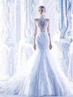 wasser Brautkleid