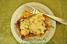 The Lean Gourmet Kitchen: Zucchini Pasta Pie! Gotta try this in the Xtrema Ceramic Pie Plate http://store.ceramcor.com/ProductDetails.asp?ProductCode=99418 #eatclean