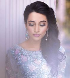 """❤️❤️this shot of the beautiful @sansari6 for the Farah Talib Aziz @farahtalibazizdh latest bridal campaign we did the hair and makeup for  here we did…"""