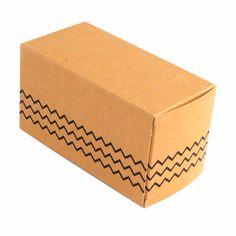 Caja con solapas 16x8x8cm - Kraft Zig Zag