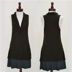 Free People  Cowlneck Dropwaist Dress