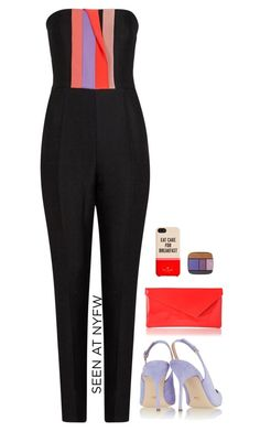 """NYFW"" by codetwist ❤ liked on Polyvore featuring Roksanda, Sergio Rossi, L.K.Bennett, Kate Spade and Lancôme"