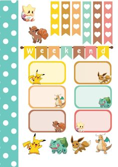 Dodo Charms:FREE Pokemon Sticker Kit