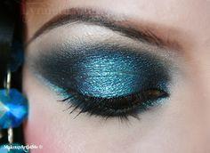 teal makeup glitter sparkle -Make-up Artist Me!-- 1920's Dramatic makeup look