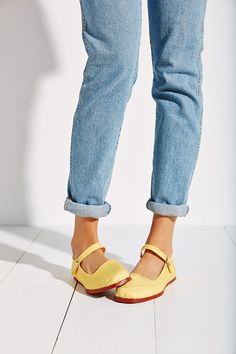 Overdyed Cotton Mary Jane - Urban Outfitters