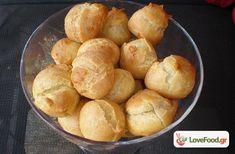 Σουδάκια The Kitchen Food Network, Greek Desserts, Sweet Pastries, Small Cake, Yams, Pretzel Bites, Custard, Tray Bakes, Food Network Recipes