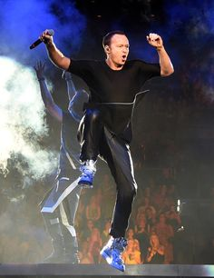 Singer Donnie Wahlberg of New Kids on the Block leaps in the air as he performs during the kickoff of The Main Event tour at the Mandalay Bay Events Center on May 1, 2015 in Las Vegas, Nevada.