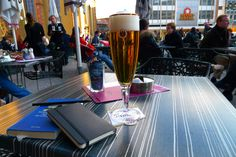 0092: GeS02 1/12. Frankfurt, Germany, (Schopenhauer's hometown), km 64'530, Café Hauptwache, 28 February 2011, 15:42 (local time): Binding Pils