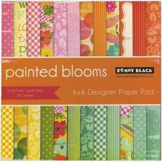 Penny Black 80009 Painted Blooms Paper Pad 6 x 6 -- See this great product.Note:It is affiliate link to Amazon.