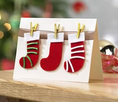 Felt stocking card
