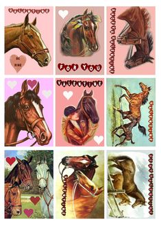 Printable Horse Valentine's | Items similar to Horse Valentines Tags Printables - Downloadable ...