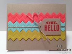 LOVE! cut chevron embossed papers...