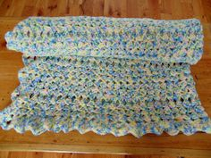 NEW Knitted Baby Blanket Crochet Afghan Throw Boy or Girl 56  x 33  Canada Made