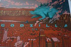 Godzilla - 2015 Jared Muralt poster print Variant hand numbered