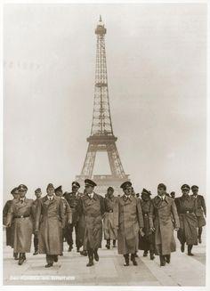 En 1940, Hitler est entré la France avec les Nazis et la France était occupée par les Allemands.