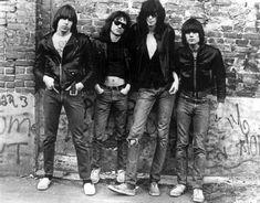 The Ramones from left: Johnny Ramone, Tommy Ramone, Joey Ramone, and Dee Dee Ramone.