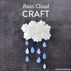 Rain Cloud Craft | Vicky Barone