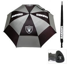 Oakland Raiders NFL 62 double canopy umbrella