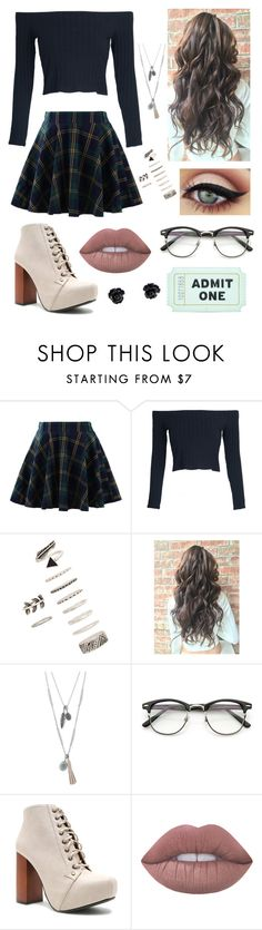 """""""Preppy"""" by catiepayne ❤ liked on Polyvore featuring Chicwish, WithChic, Forever 21, Lucky Brand, Qupid, Lime Crime and Kate Spade"""