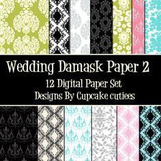 Wedding Damask Paper Set Two