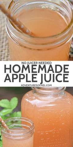 How to make the most delicious homemade apple juice without a juicer and without any added sugar. Simple and easy Instant Pot recipe. #adventuresofmel #applejuice #instantpot #juicing #pressurecooker #homemadeapplejuice