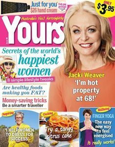 Yours #magazines #August #2015 #Jacki Weaver