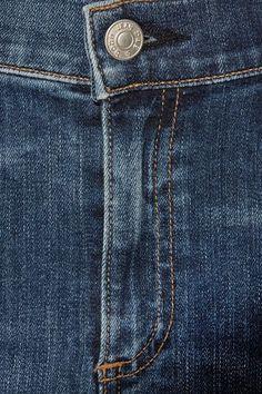 rag & bone - The Capri Distressed Mid-rise Skinny Jeans - Blue - 31