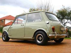 The problems you sow are the troubles you're reaping Mini Cooper Custom, Mini Cooper Classic, Classic Mini, Classic Cars, Yellow Mini Cooper, Mini Cooper S, Best Small Cars, Mini Morris, Mini Clubman
